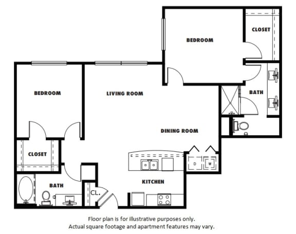 Floor Plan  B3A floor plan at Windsor Metro West, TX, 75024