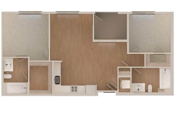 Floor Plan  B4 Floor Plan at Malden Station by Windsor in Fullerton, CA.