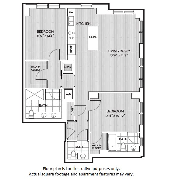 Floor Plan  B4(5) floor plan at The Woodley, 2700 Woodley Road, NW, Washington, DC, opens a dialog