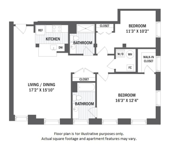 Floor Plan  B4(6) floor plan at Jack Flats by Windsor, 1000 Stone Place, 02176