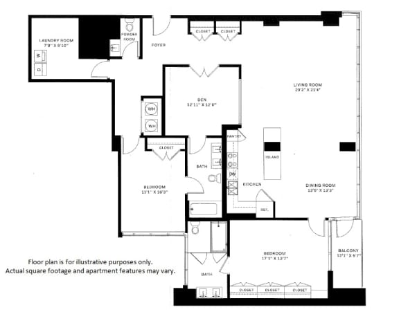 Floor Plan  B4 Floor Plan at 7770 Norfolk, Bethesda, Maryland