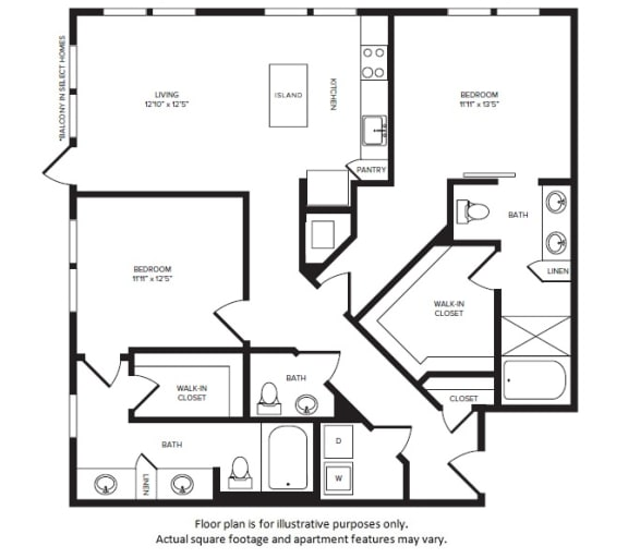Floor Plan  B5(2) floor plan at Windsor Turtle Creek, 3663 Cedar Springs Rd, 75219, opens a dialog