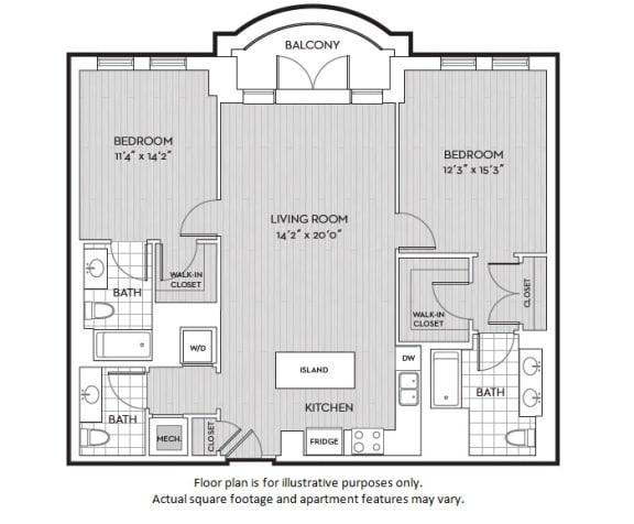 Floor Plan  B5(3) floor plan at The Woodley, Washington, DC, opens a dialog