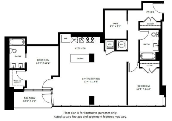 Floor Plan  B5 Floor Plan at 7770 Norfolk, Maryland