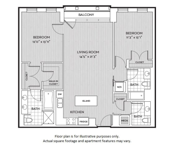 Floor Plan  B6(2) floor plan at The Woodley, 2700 Woodley Road, NW, 20008, opens a dialog