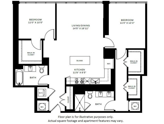 Floor Plan  B6 Floor Plan at 7770 Norfolk, Maryland, 20814
