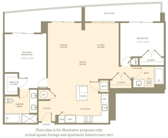Floor Plan  B6 Floor Plan at Amaray Las Olas by Windsor, FL, 33301