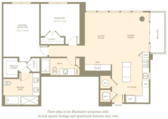 Floor Plan  B7 Floor Plan at Amaray Las Olas by Windsor, Fort Lauderdale, Florida