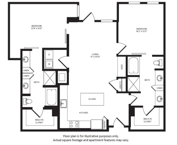 Floor Plan  B8(1) floor plan at Windsor Turtle Creek, Dallas, Texas, opens a dialog
