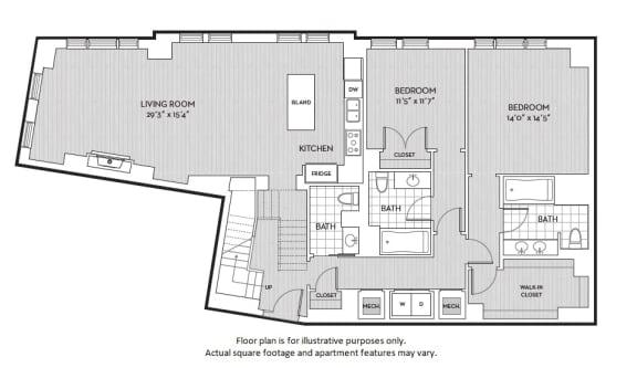 Floor Plan  B8(2) floor plan at The Woodley, 2700 Woodley Road, NW, Washington, DC