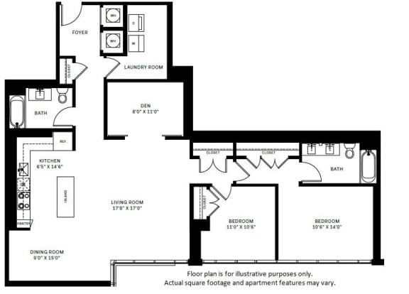 Floor Plan  B8 Floor Plan at 7770 Norfolk, Bethesda