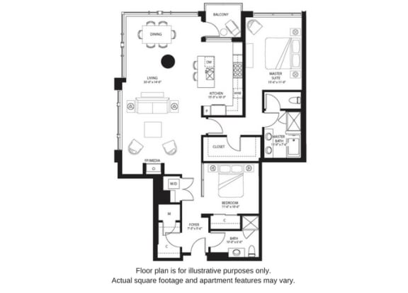 Floor Plan  B9 North floor plan at The Bravern, Washington, 98004