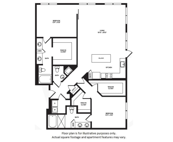 Floor Plan  B9(1) floor plan at Windsor Turtle Creek, Texas, 75219, opens a dialog