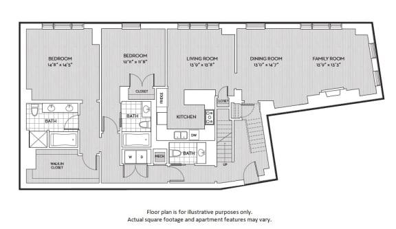 Floor Plan  B9(2) floor plan at The Woodley, Washington, DC