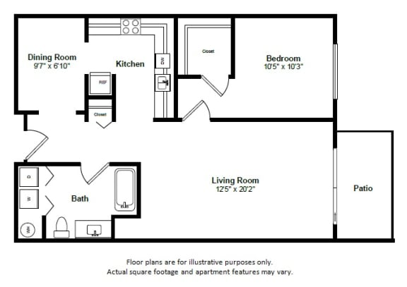 Floor Plan  Barbados floor plan at Tera Apartments, Washington, 98033