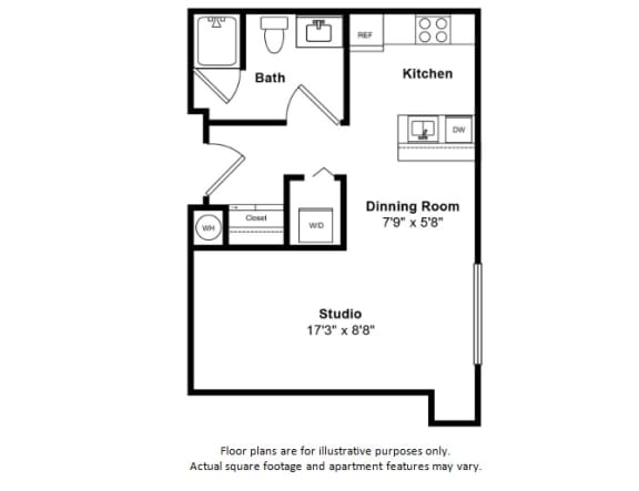 Floor Plan  Bodden floor plan at Tera Apartments, Kirkland, WA
