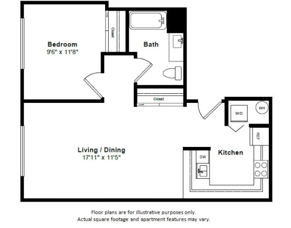Floor Plan  Bora Bora floor plan at Tera Apartments, WA, 98033