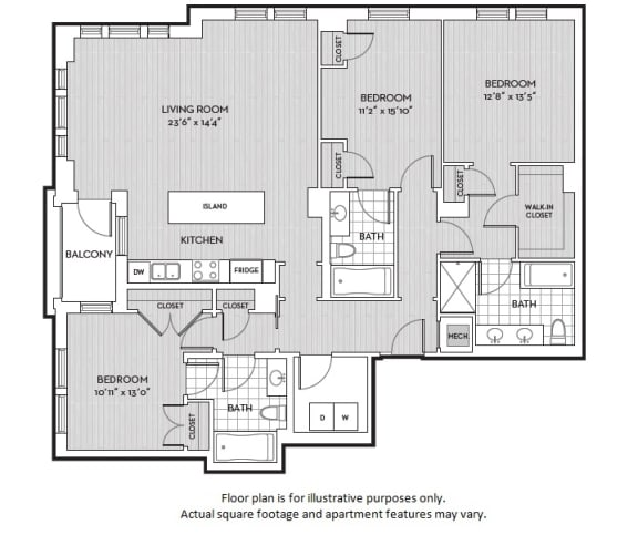 Floor Plan  C1 at The Woodley, Washington, DC, opens a dialog