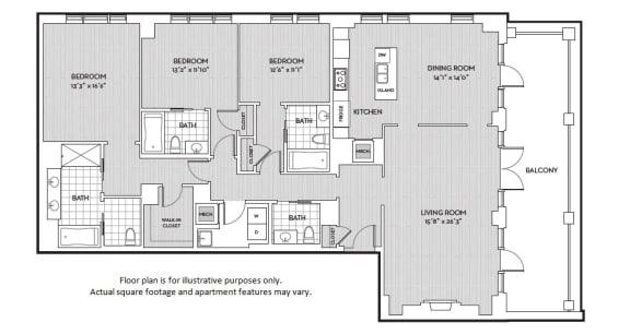 Floor Plan  C10 floor plan at The Woodley, 2700 Woodley Road, NW, 20008