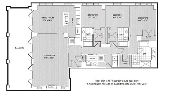 Floor Plan  C11 floor plan at The Woodley, Washington, DC 20008