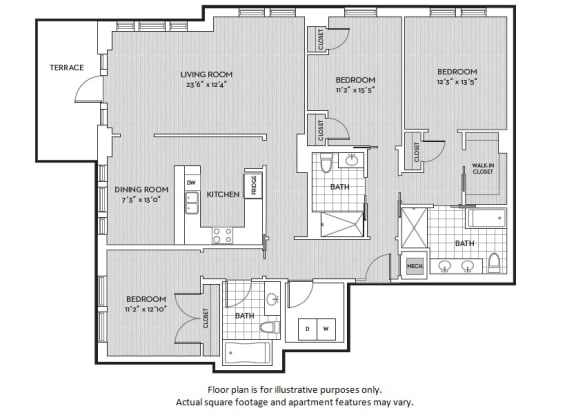 Floor Plan  C12 floor plan at The Woodley, 2700 Woodley Road, NW, Washington, DC, opens a dialog