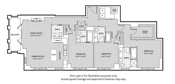 Floor Plan  C2 floor plan at The Woodley, 2700 Woodley Road, NW, 20008