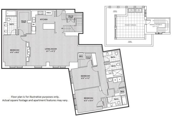 Floor Plan  C4 floor plan at The Woodley, 2700 Woodley Road, NW, Washington, DC