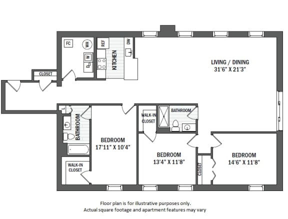 Floor Plan  C5(1) floor plan at Jack Flats by Windsor, Massachusetts, 02176