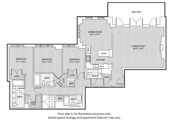 Floor Plan  C5 floor plan at The Woodley, Washington, DC