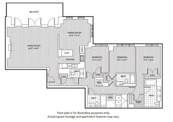 Floor Plan  C6 floor plan at The Woodley, 2700 Woodley Road, NW, 20008, opens a dialog