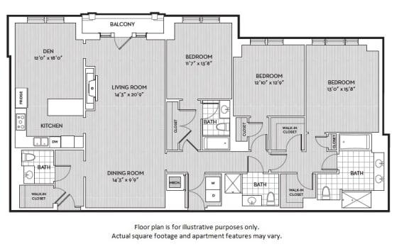 Floor Plan  C7 floor plan at The Woodley, Washington, DC 20008