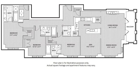 Floor Plan  C8 floor plan at The Woodley, 2700 Woodley Road, NW, Washington, DC