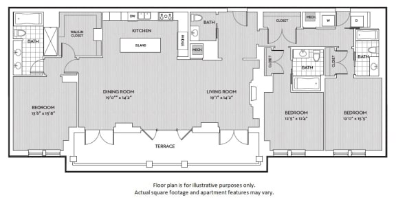 Floor Plan  C9 floor plan at The Woodley, Washington, DC