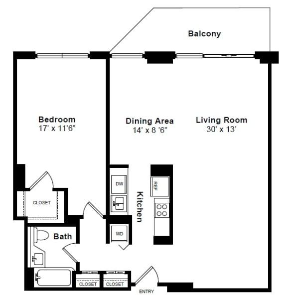 Floor Plan  Carnigie floor plan at Windsor at Mariners, NJ, 07020