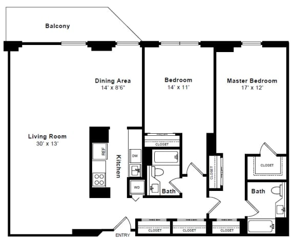 Floor Plan  Chelsea floor plan at Windsor at Mariners, NJ, 07020
