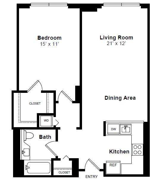 Floor Plan  Claremont floor plan at Windsor at Mariners, NJ, 07020