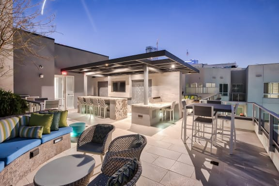 Rooftop lounge at Olympic by Windsor, Los Angeles, CA
