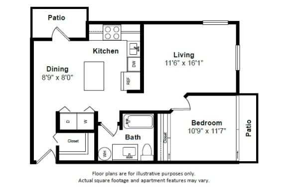 Floor Plan  Grenada floor plan at Tera Apartments, Washington, 98033