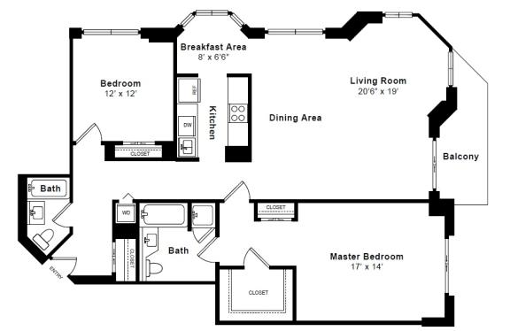 Floor Plan  Hamilton floor plan at Windsor at Mariners, 100 Tower Dr., Edgewater
