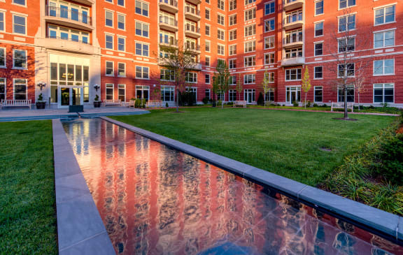 Landscaped courtyard at The Woodley, 2700 Woodley Road, NW, Washington, DC