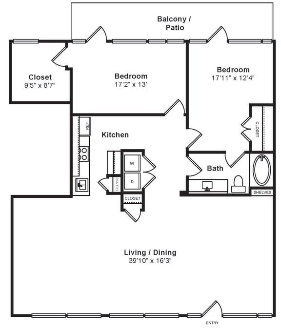 Floor Plan  L-W1