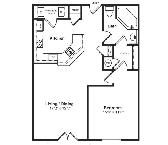 Floor Plan  M_Bari Floor Plan at Windsor at Midtown, Aurora, Colorado, opens a dialog
