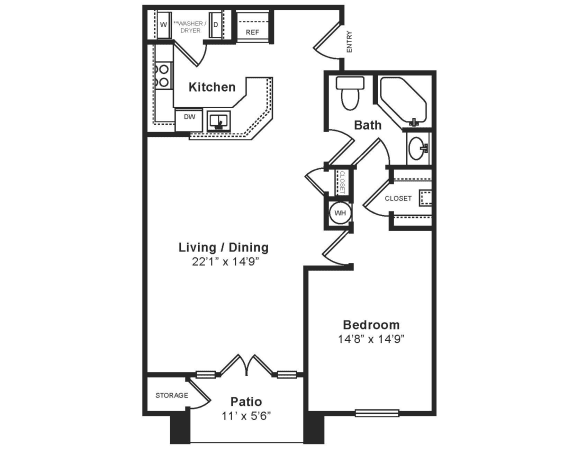 Floor Plan  M_Genova(2) Floor Plan at Windsor at Midtown, Aurora, CO, opens a dialog