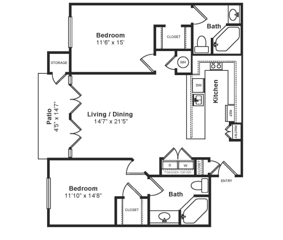 M_Napoli(1) Floor Plan at Windsor at Midtown, CO, 80014