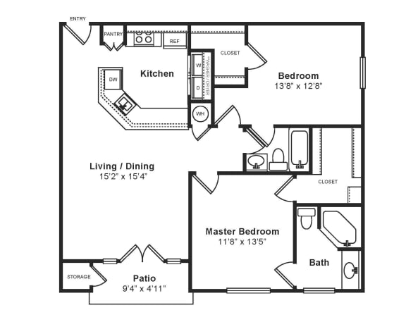 Floor Plan  M_Palermo Floor Plan at Windsor at Midtown, Aurora, CO, opens a dialog