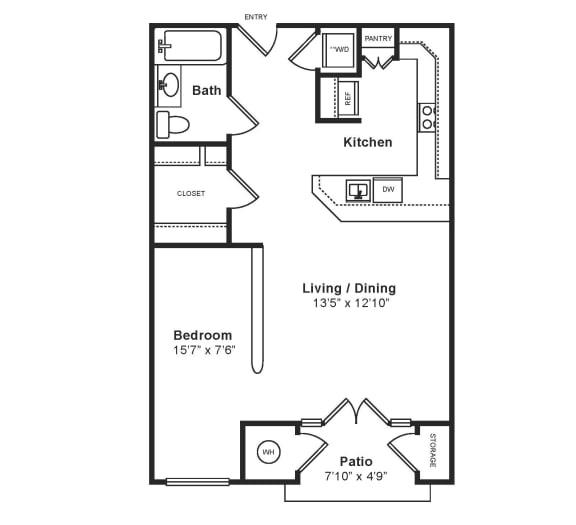 Floor Plan  M_Venezia(1) Floor Plan at Windsor at Midtown, CO, 80014, opens a dialog