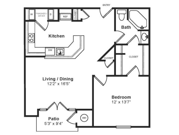 Floor Plan  M_Verona(1) Floor Plan at Windsor at Midtown, Aurora, CO, opens a dialog