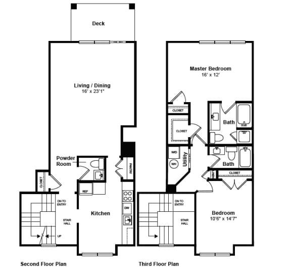 Floor Plan  Marrietta floor plan at Windsor at Mariners, 100 Tower Dr., Edgewater