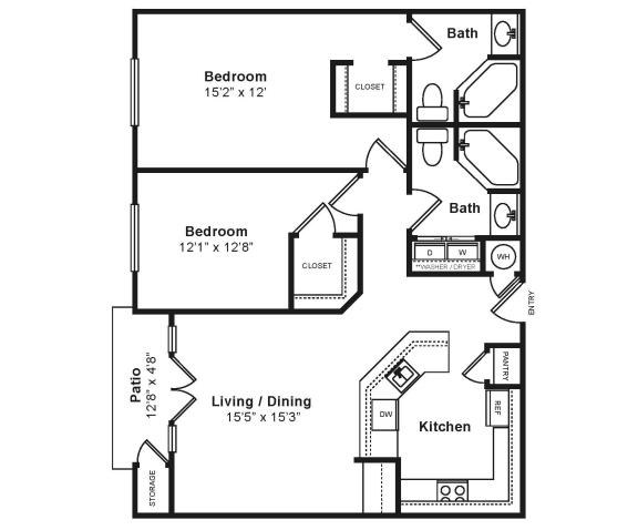 Floor Plan  Midtown_Torino Floor Plans at Windsor at Midtown, Aurora, Colorado, opens a dialog