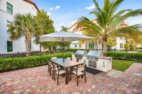 Grilling stations at Mirador at Doral by Windsor, Doral, FL